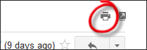 Gmail print button to get good full size printouts